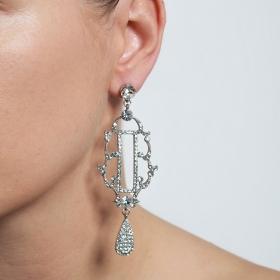 Náušnice Chandelier Exclusive Swarovski Crystal Silver