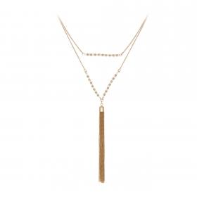 Náhrdelník Fine Duo Minimalistic Stripe Gold