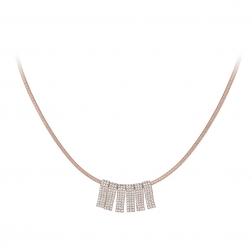 Náhrdelník Elegance Modern Style Zircon Crystals Rose Gold