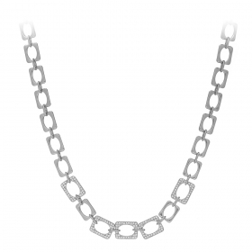 Náhrdelník Modern Chain Style Zircon Crystals Silver