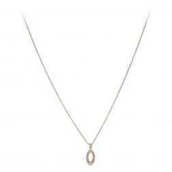 Náhrdelník Fine Oval Zircon Crystals Rose Gold