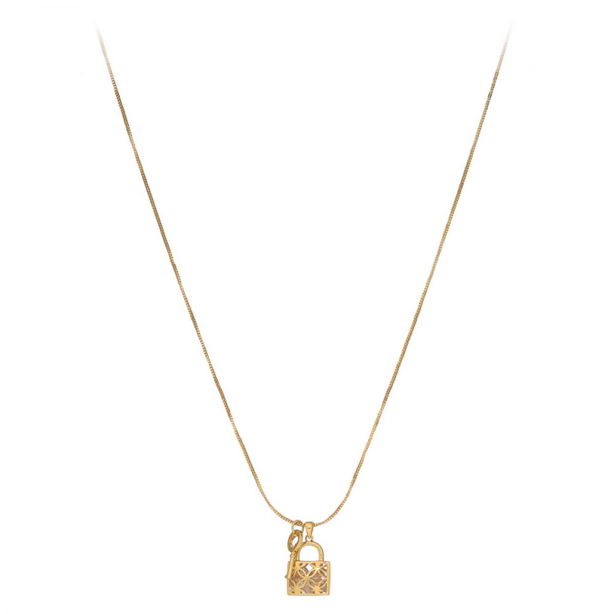 Náhrdelník Fine Lock & Key Gold