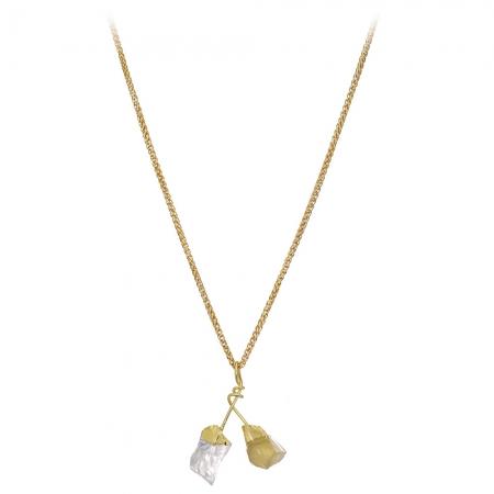 Náhrdelník Exclusive Long Stone Mineral Gold