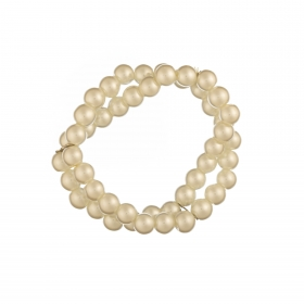 Náramok Two Lines White Pearl Elastic