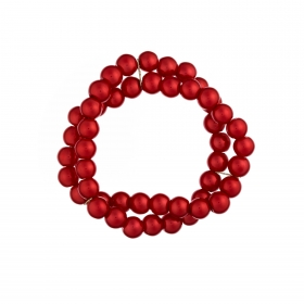 Náramok Two Lines Red Pearl Elastic
