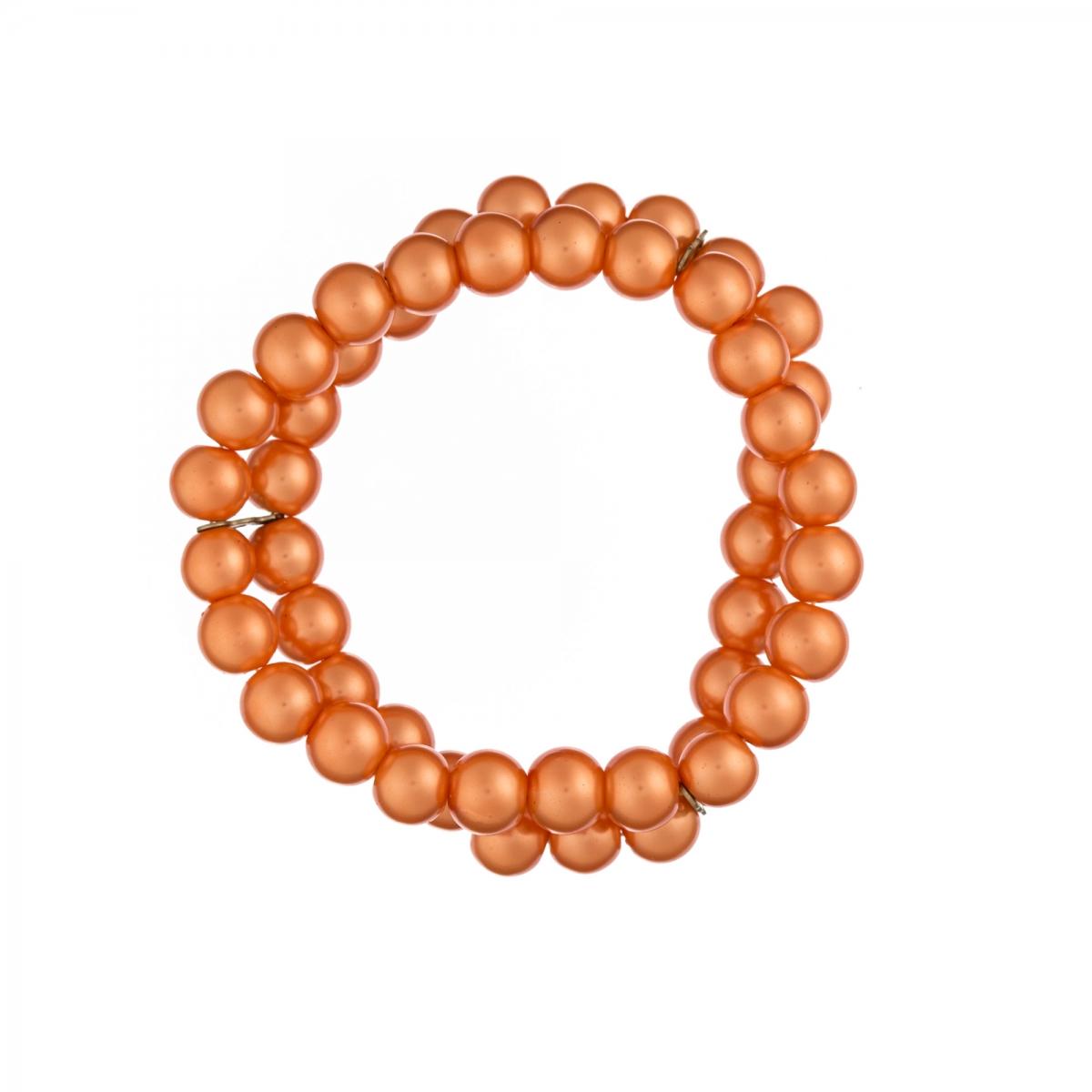 Náramok Two Lines Orange Pearl Elastic