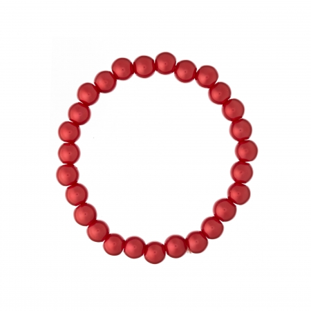 Náramok Red Pearl Elastic