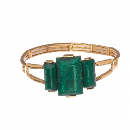 Náramok Luxury Green Gold Elastic