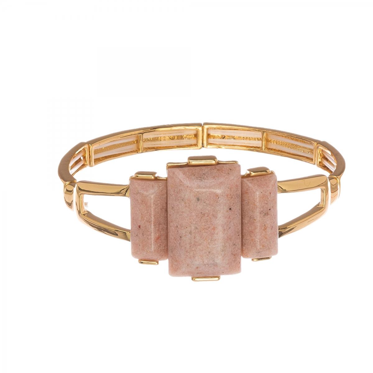 Náramok Luxury Nude Gold Elastic