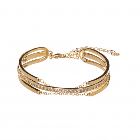 Náramok Modern Design Swarovski Crystal Gold