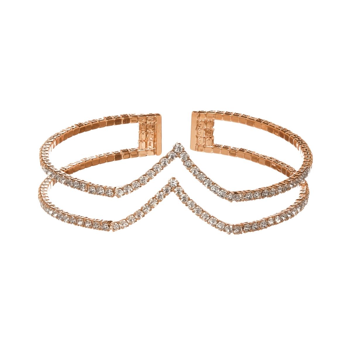 Náramok Twiins Gold Swarovski Crystal