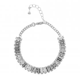 Náramok Lines Luxury Crystal Silver