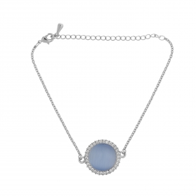 Náramok Fine Circle Cateye Blue Silver