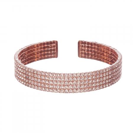 Náramok Plain Rosegold Swarovski Crystal