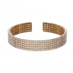 Náramok Plain Gold Swarovski Crystal