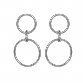 Náušnice Twin Circle Silver