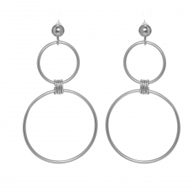 Náušnice Modern Design Circle Silver