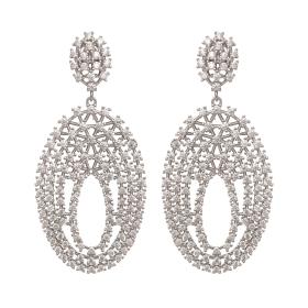 Náušnice Agatha Zircon Crystal Silver