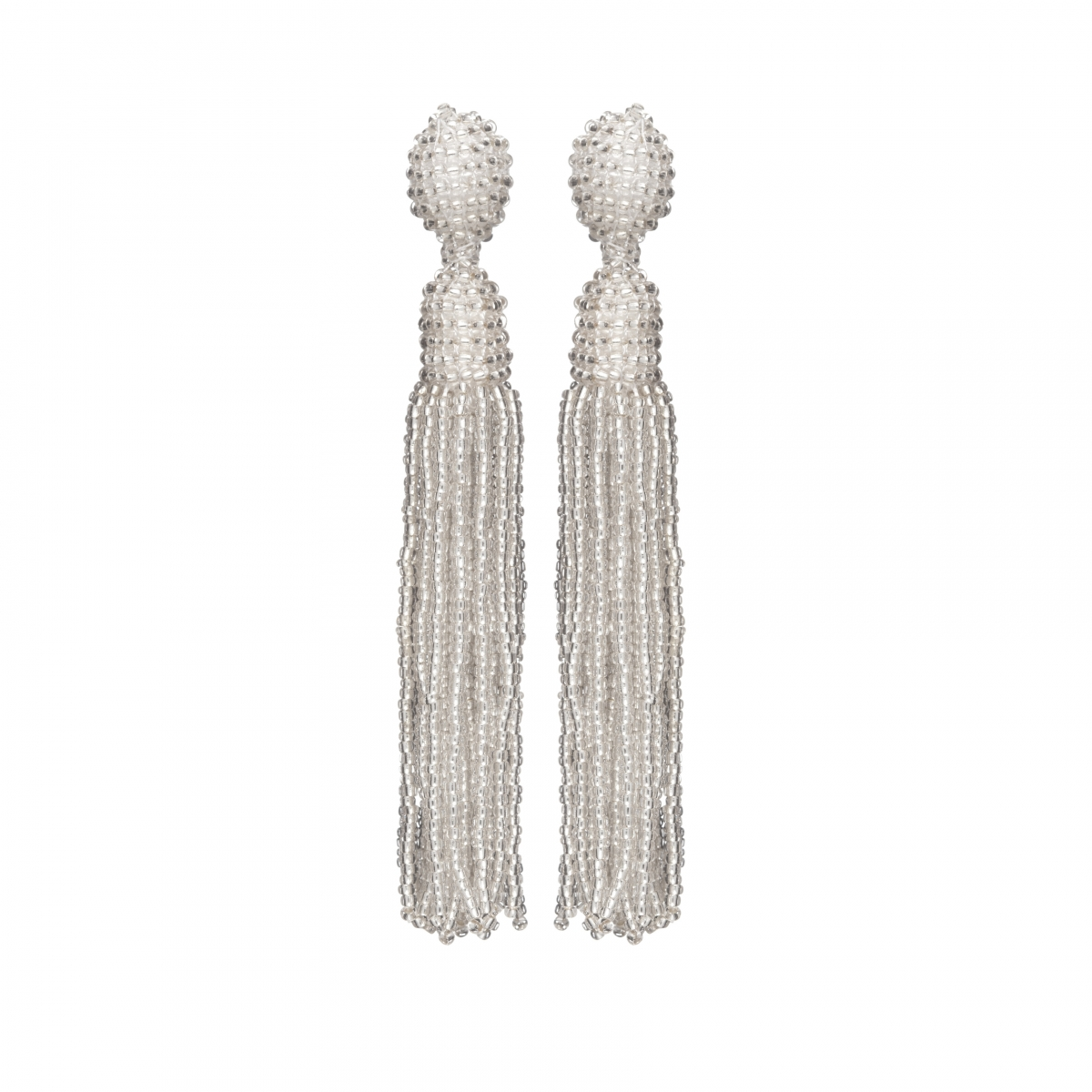 Náušnice Bette White Crystal Beads