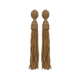 Náušnice Bette Gold Bronze Crystal Beads