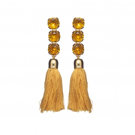 Náušnice Sara Ocher Crystal Stripe Gold