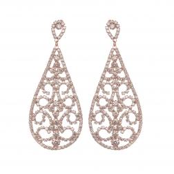 Náušnice Amelie Lace Rosegold Swarovski Crystal