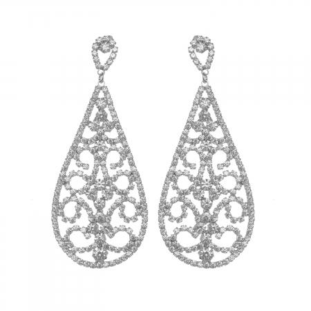 Náušnice Amelie Lace Silver Swarovski Crystal