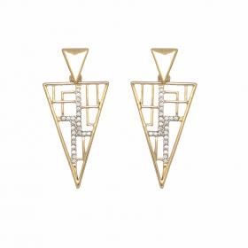 Náušnice Triangle Stone Gold