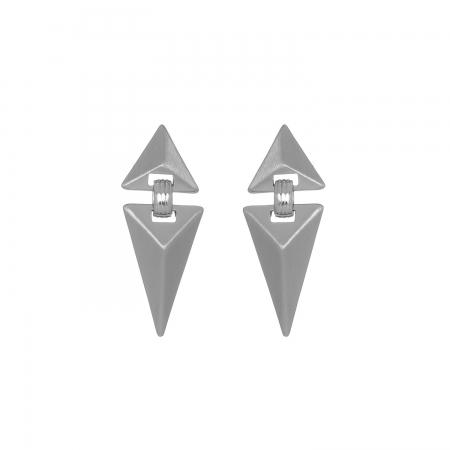 Náušnice Matte Triangle Silver