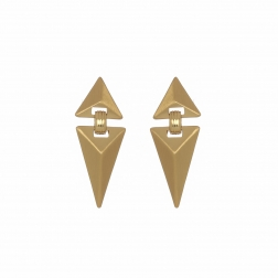 Náušnice Matte Triangle Gold