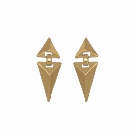 Náušnice Matte Triangle Gold