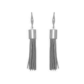 Náušnice Stripe Hook Silver