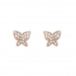 Náušnice Butterfly Mini Rosegold