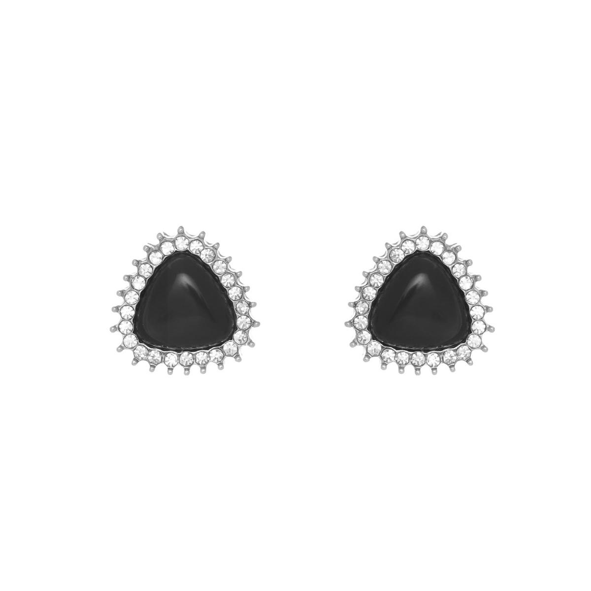 Náušnice Black Triangle Silver
