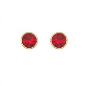 Náušnice Red Stone Dots
