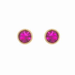Náušnice Fuchsia Stone Dots