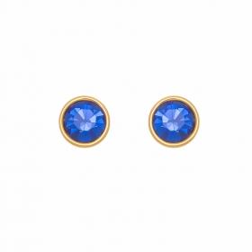 Náušnice Blue Stone Dots