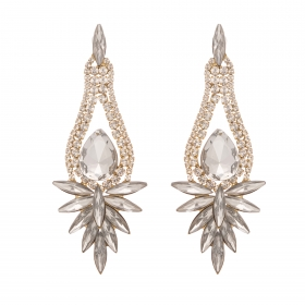 Náušnice Glacial Luxury Vintage Crystal Gold