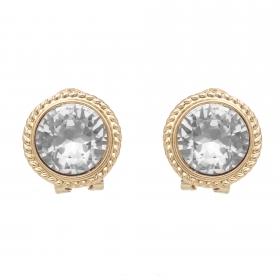 Náušnice Vintage Dots Crystal Clip Gold
