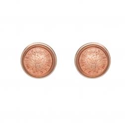 Náušnice Mini Colour Dots Salmon Rose Gold