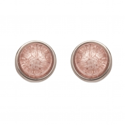 Náušnice Mini Colour Dots Light Pink Silver