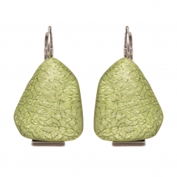 Náušnice Favourite Fashion French Hook Light Green Silver