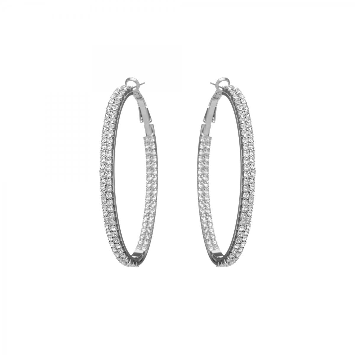 720ac2e8e Náušnice Oval Circle Swarovski Crystal Silver | Dorafashion.sk