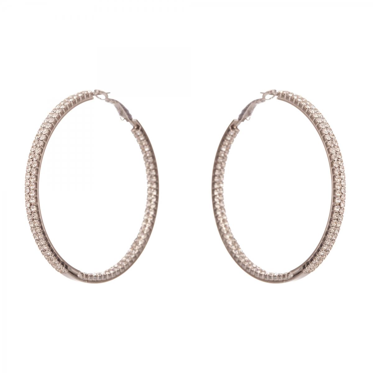 Náušnice Hoop Swarovski Crystal Silver  0be3af87503
