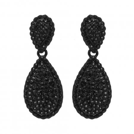Náušnice Black Dropp Swarovski Crystal