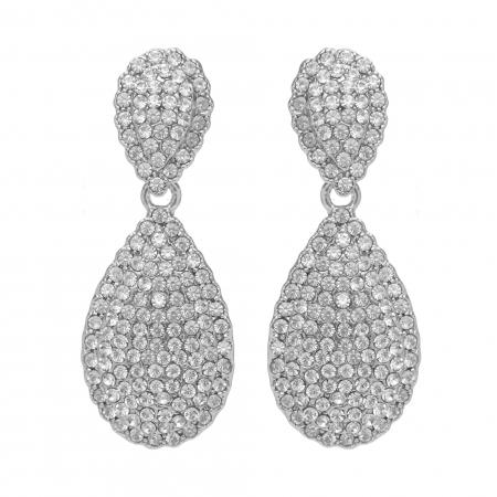Náušnice Silver Dropp Swarovski Crystal