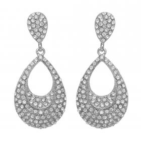 Náušnice Silver Dropp Elegant Swarovski Crystal