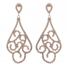Náušnice Fine Elegance Swarovski Crystal Rosegold