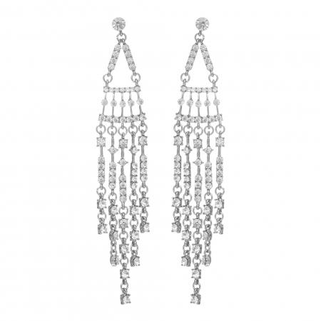 Náušnice Romantik Heart Silver Swarovski Crystal  3f5175e7cb6