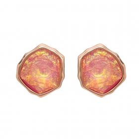 Náušnice Mimi Pink Opal Resin Stone Gold